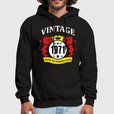 Vintage 1971 Aged to Perfection - Men's Hoodie