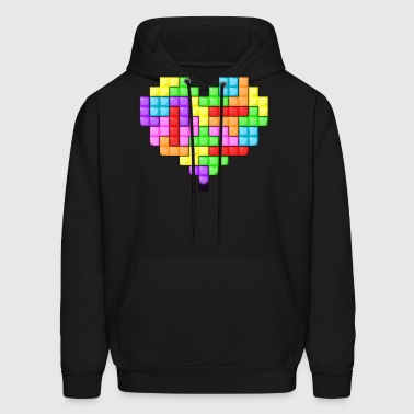 For The Love Of Tetris - Men's Hoodie