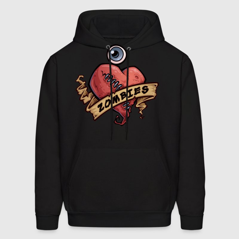I Love Zombies - Men's Hoodie