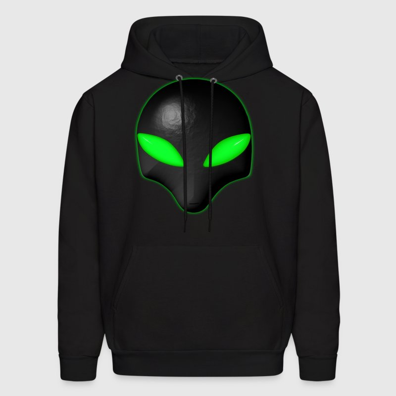 Alien Bug Face Green Eyes - Men's Hoodie