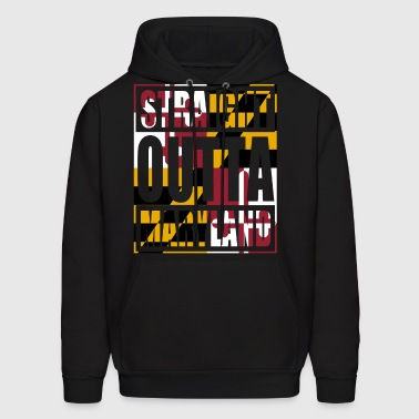 Straight Outta Maryland Flag - Men's Hoodie