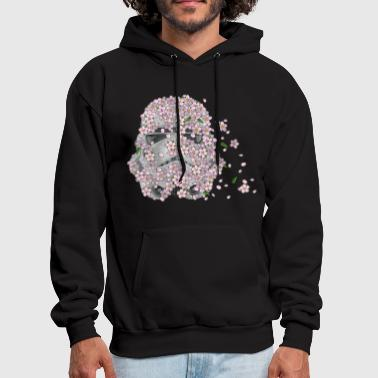 Stormtrooper Helmet with Cherry Blossoms 1 - Men's Hoodie