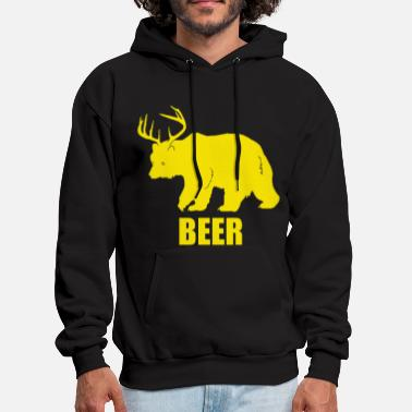 Bear Deer Beer Funny Design - Men's Hoodie