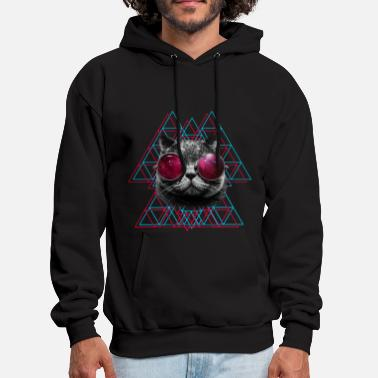 Cool 3D Space Cat T Shirt (Mens) - Men's Hoodie