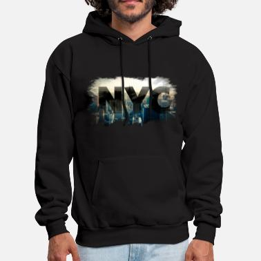 City nyc new york city skyline - Men's Hoodie