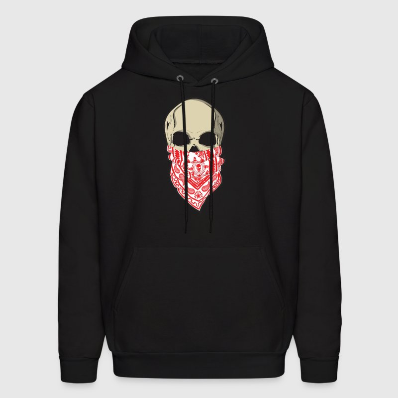 Red Skull Bandana Tattoo Hoody - Men's Hoodie