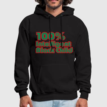 Old School Hip Hop 100% Intelligent Black Child - Men's Hoodie