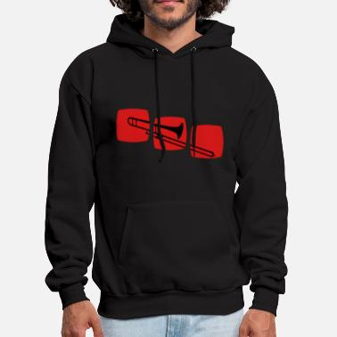 Trombone Trombone trombone motif band musicians, jazz / ska  and other genres.  - Men's Hoodie