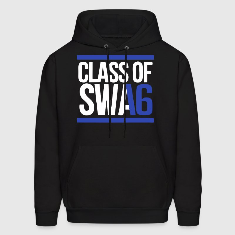 CLASS OF SWAG (2016) blue with bands - Men's Hoodie