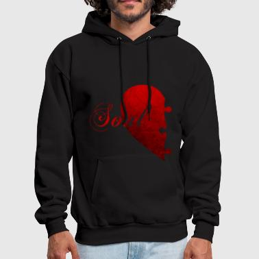 SOULMATE COUPLE LEFT SIDE - Men's Hoodie