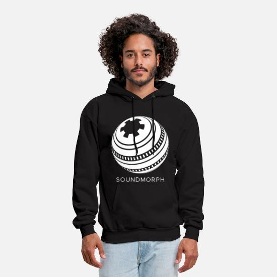 White Hoodies & Sweatshirts - Main Logo White Sphere - Men's Hoodie black