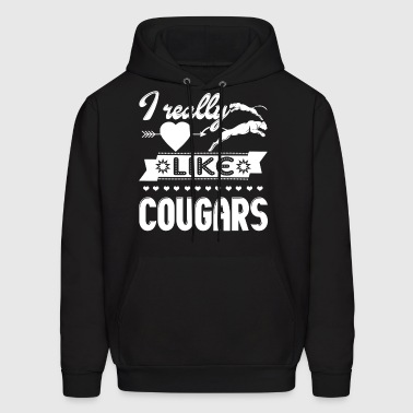 I Like Cougars Shirt  - Men's Hoodie