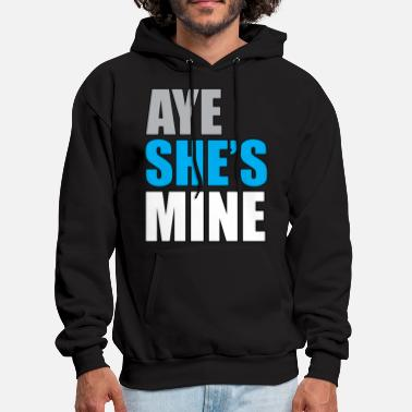 Boyfriend Girlfriend Aye_she's_mine_blue - Men's Hoodie