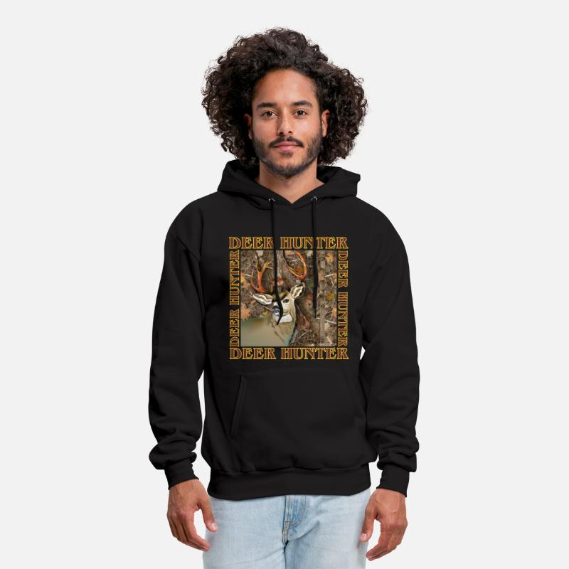 Deer Hunting Hoodies & Sweatshirts - Deer Hunter - Men's Hoodie black