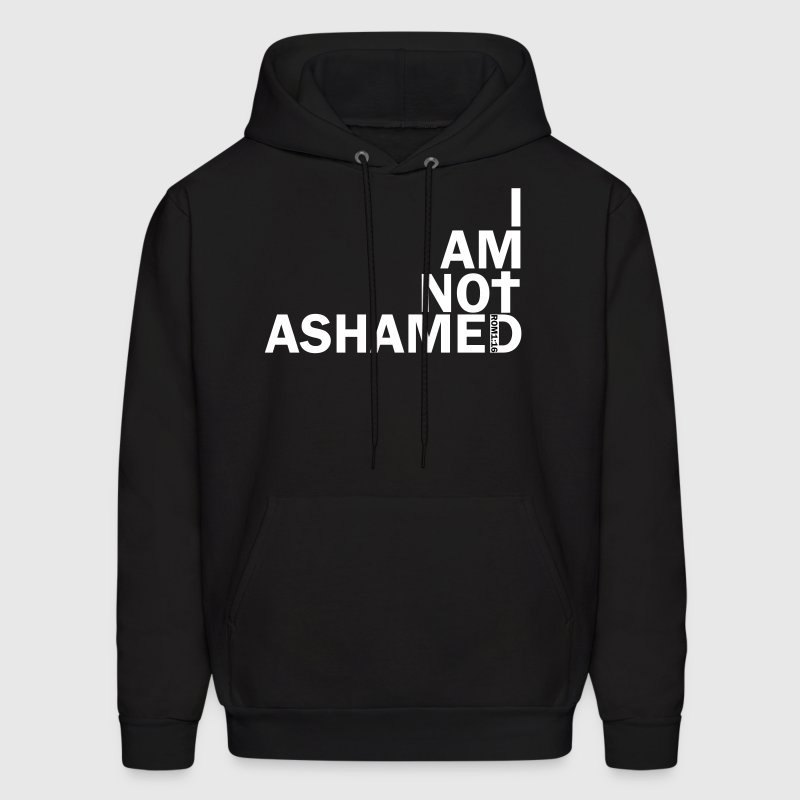i am not ashamed red - Men's Hoodie