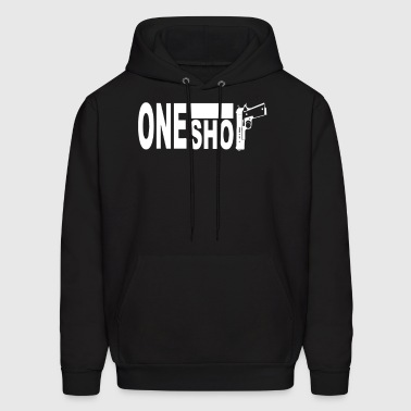 One shot  9mm Fight - Men's Hoodie