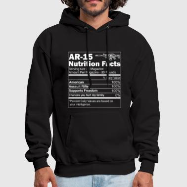AR15 Assault Rifle Nutrition Facts | For Gun Owner - Men's Hoodie