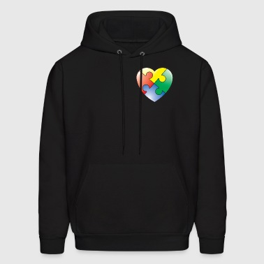 Autism Awareness Heart - Men's Hoodie