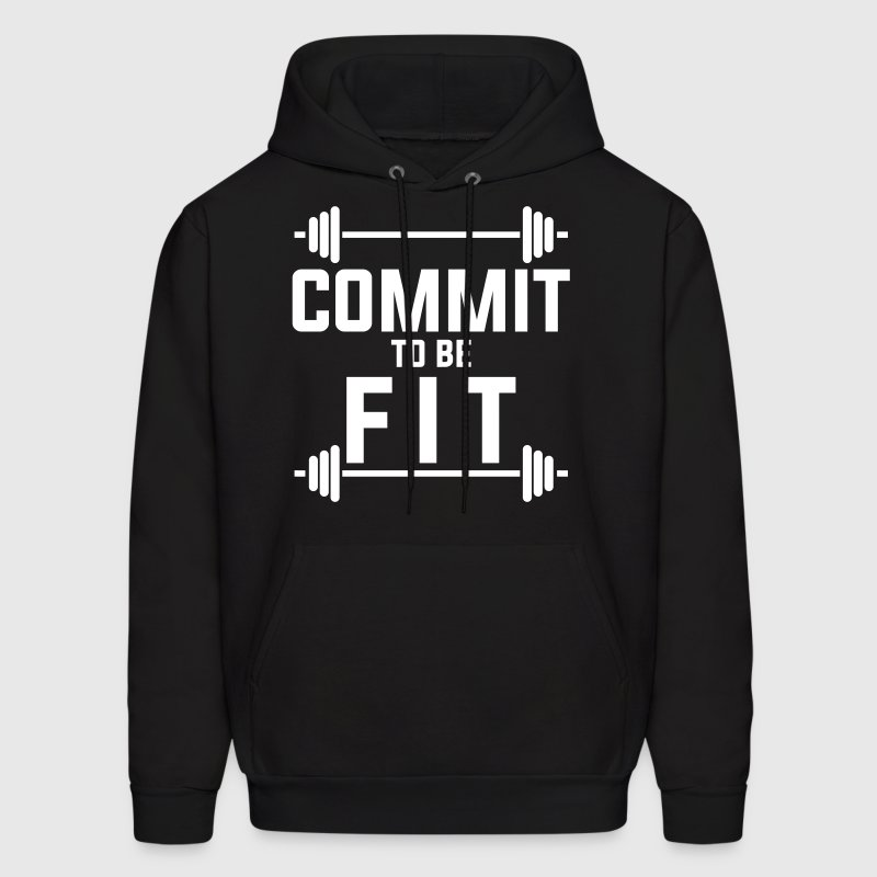 Commit to be fit - Men's Hoodie