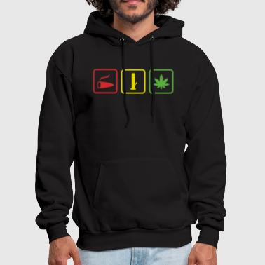 spliff pipe weed red yellow green - Men's Hoodie