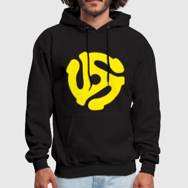 45 Record Adapter Yellow - Vinyl - Men's Hoodie