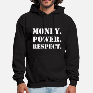 Gangster Money Respect - Men's Hoodie
