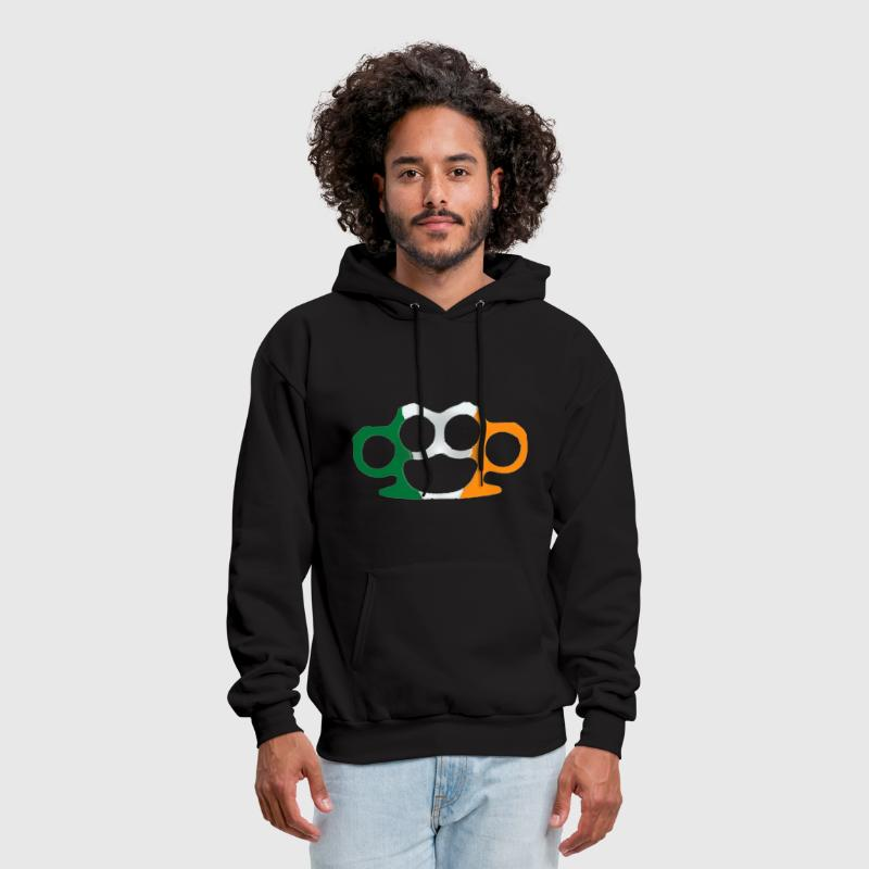 Irish Ireland Flag Brass Knuckles Tough Strong - Men's Hoodie