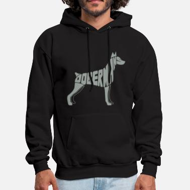 Doberman Doberman Dog Art - Men's Hoodie
