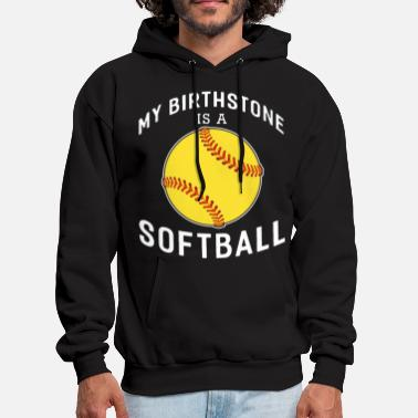 my birthstone is a baseball t shirts - Men's Hoodie