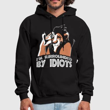 i m surrounded by idiots dad - Men's Hoodie