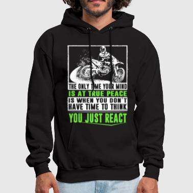 the only time your mind biker motorcycle - Men's Hoodie