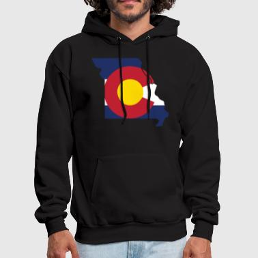 Missouri Missouri Colorado Funny Pride Flag Apparel - Men's Hoodie