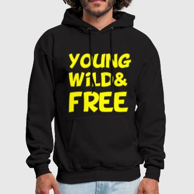 Young Wild and Free Design - Men's Hoodie