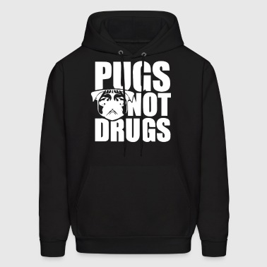 Pugs Not Drugs - Men's Hoodie