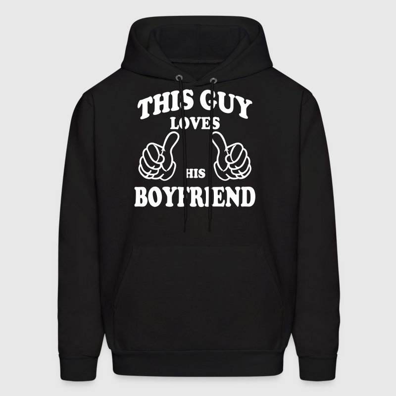 this guy loves his boyfriend - Men's Hoodie