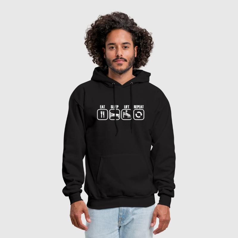 Eat Sleep Lift Repeat - Men's Hoodie