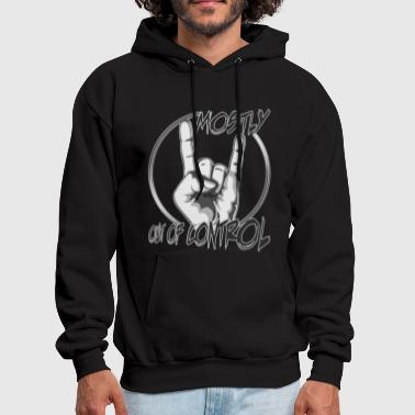 MOSTLY out of control metal horns up in the air - Men's Hoodie