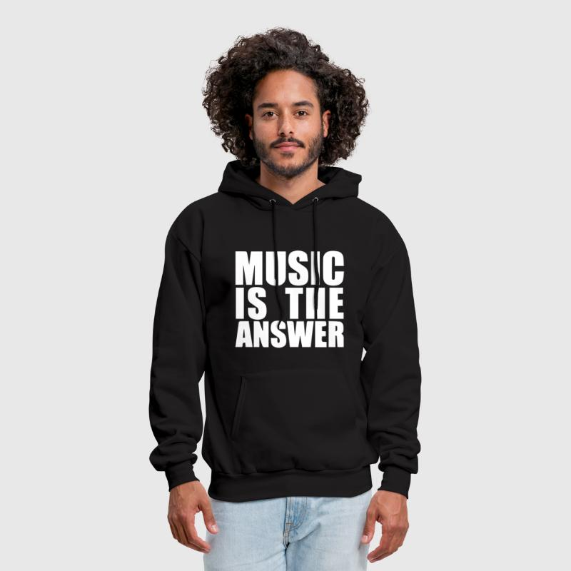 Music Is The Answer Printed - Men's Hoodie