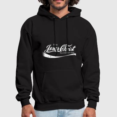 Enjoy Jesus Christ thou shalt never thirst - Men's Hoodie
