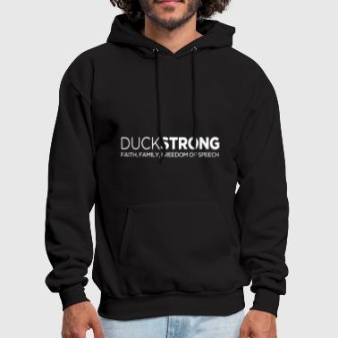 Freedom Of Speech Duckstrong faith family freedom of speech - Men's Hoodie