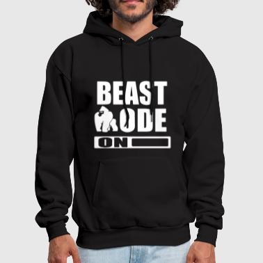 Gym Workout MMA Muscle Training Beat mode on - Men's Hoodie
