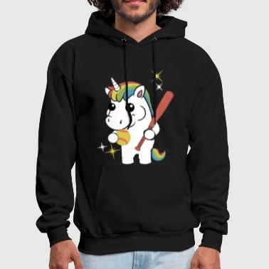NEW SOFTBALL UNICORN - Men's Hoodie
