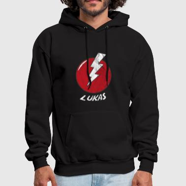Funny Bolt Name Shirt Superhero Lukas - Men's Hoodie