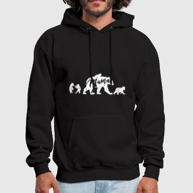 Mama Bear with Four Cubs mom t shirts - Men's Hoodie