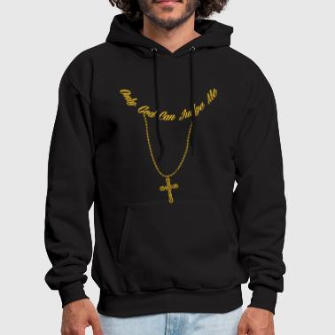 Judge Cool Tup ac Gangster Only God Can Judge Me Jesus - Men's Hoodie