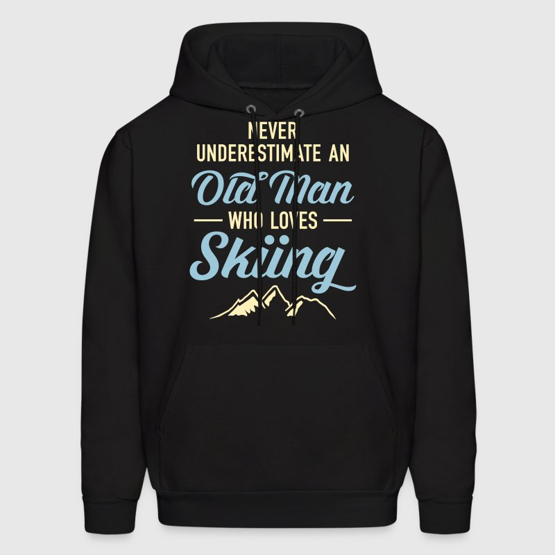 Never Underestimate An Old Man Who Loves Skiing - Men's Hoodie