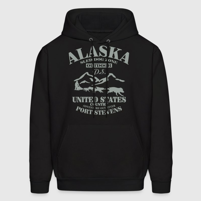 Husky - dog sled - Yukon Quest - Alaska  - Men's Hoodie