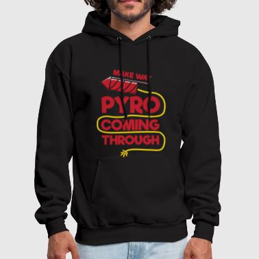 Funny 4th of July Pyro Coming Through - Men's Hoodie