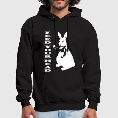 Inspired White Rabbit Alice In Wonderland Hippy Te - Men's Hoodie