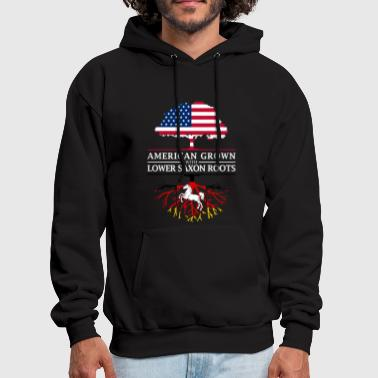 Saxon American Grown with Lower Saxon Roots Saxony Design - Men's Hoodie